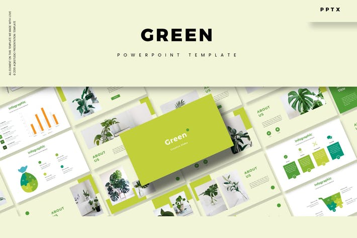 Thumbnail for Green - Powerpoint Template