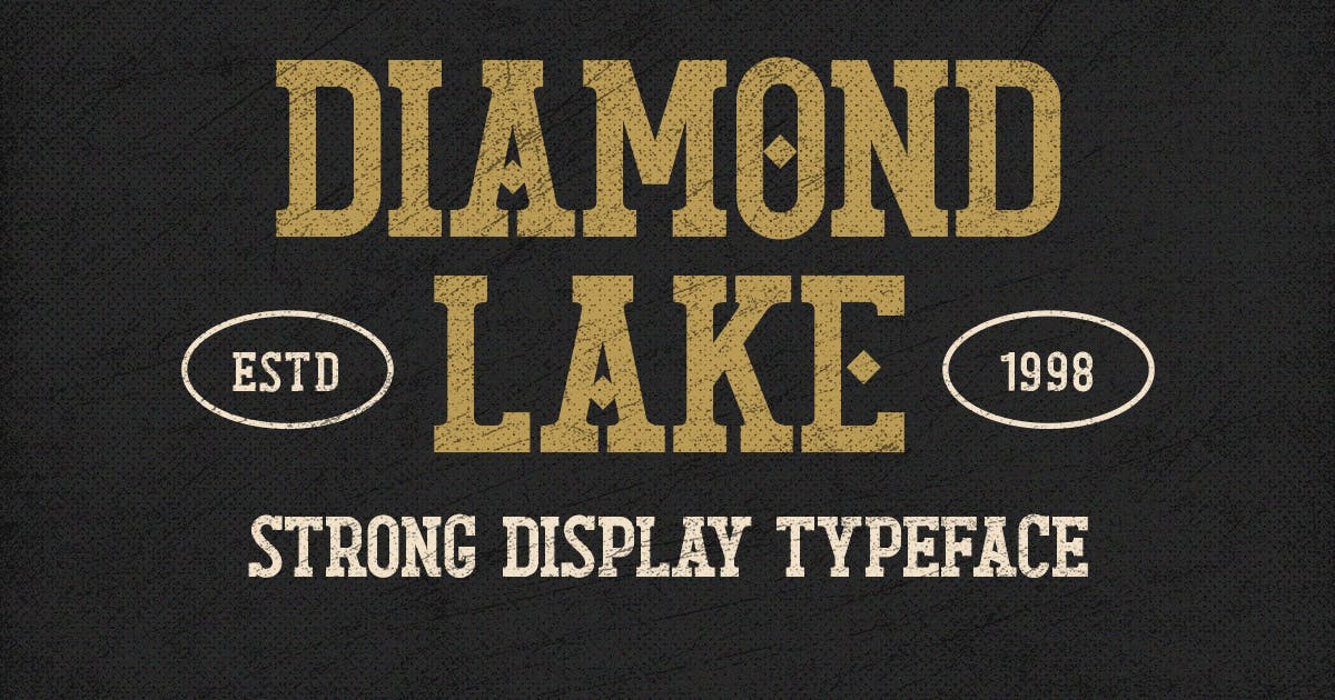 Download Diamond Lake - Strong Display Typeface by Rillatype