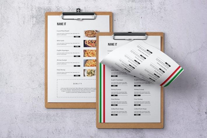 Thumbnail for Italian Cuisine Elegant Single Page Food Menu