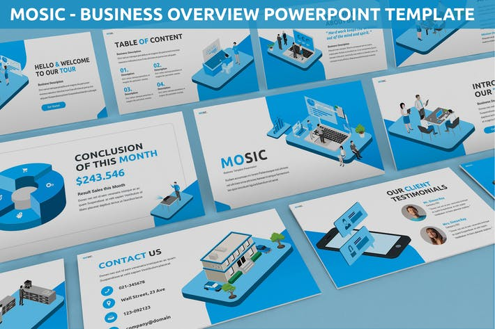 Thumbnail for Mosic - Business Overview Powerpoint Template