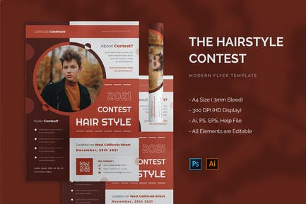 Hairstyle Contest - Flyer
