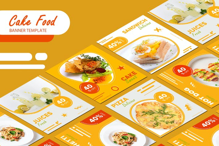 Thumbnail for Cake Food  Banner Templates