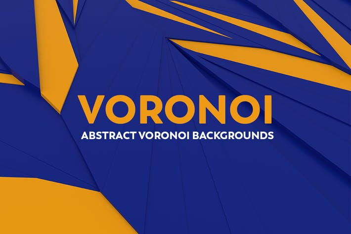 Thumbnail for Abstract Voronoi Backgrounds - Blue and Orange