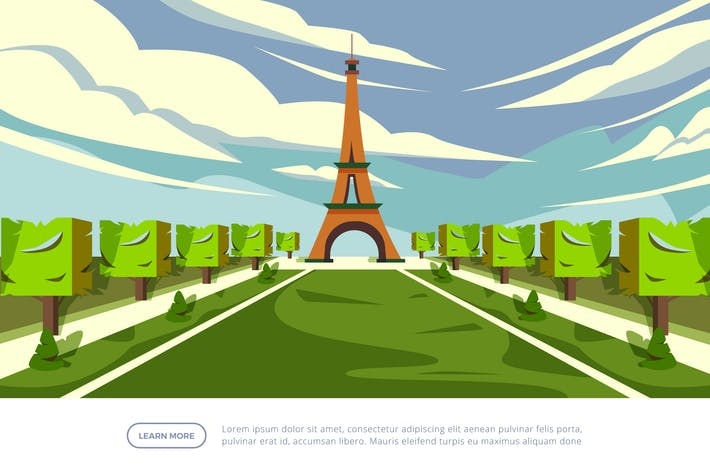 Thumbnail for Eiffel Tower - Famous Landmark Illustration