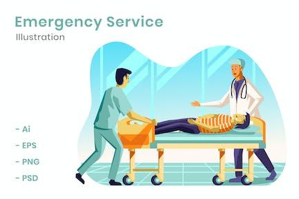 Notfalldienst-Illustration