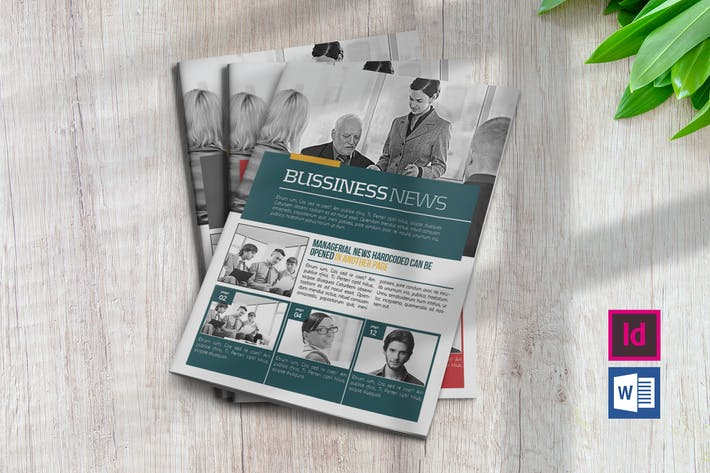 Thumbnail for Business Newsletter Template