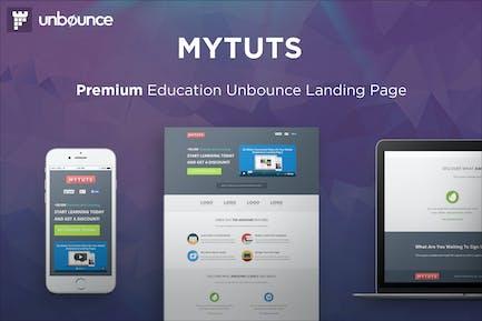 MyTuts - Шаблон Unbounce чка образования