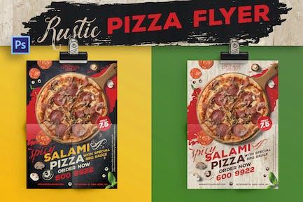 dépliant Pizza Rustique