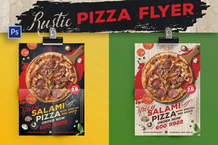 Thumbnail for Rustic Pizza Flyer