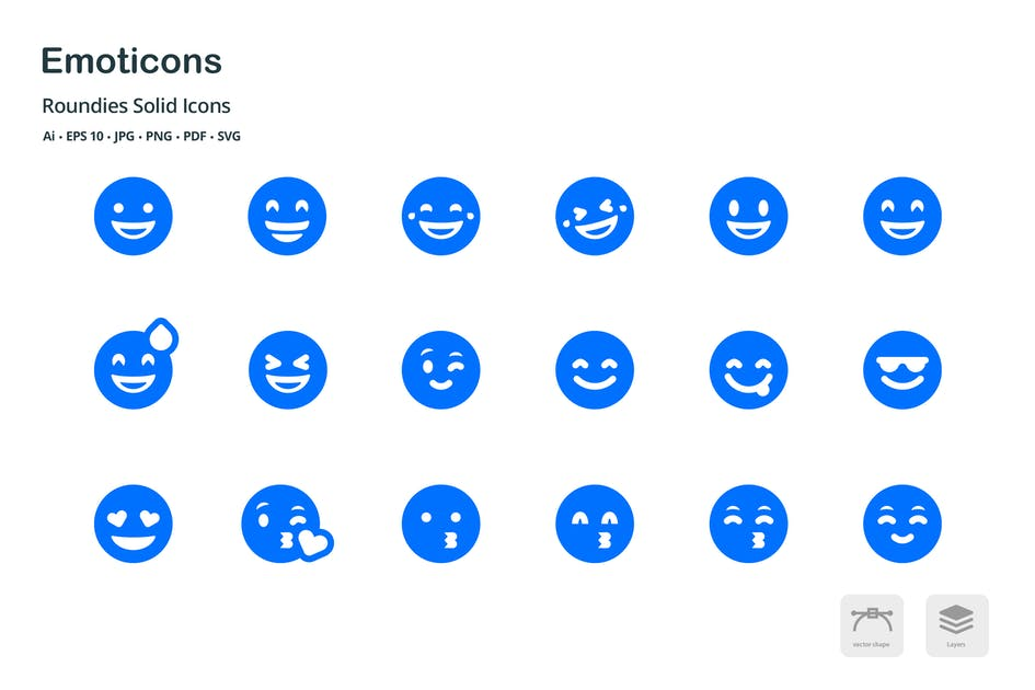Download Emoticons Roundies Solid Glyph Icons by roundicons