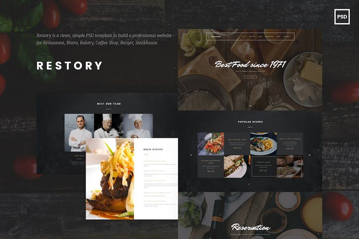 Thumbnail for Restory - Restaurant and Cafe PSD Template
