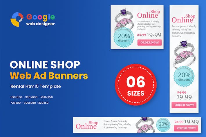 Multipurpose Online Shop Banner HTML5