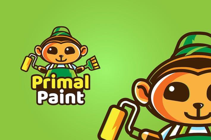 Thumbnail for monkey paint - Mascot & Esport Logo