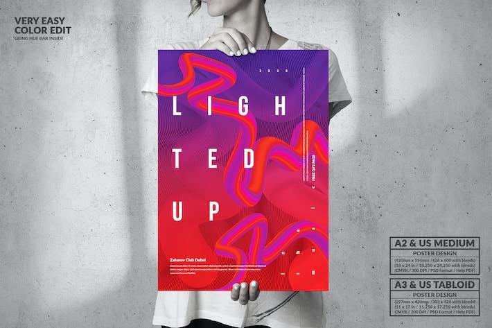 Thumbnail for Light Up Party - Большой музыкальный дизайн плаката