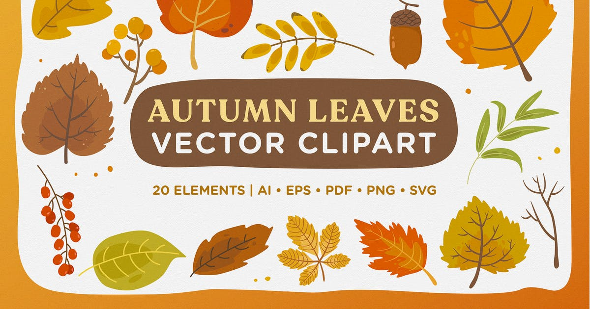 Download Autumn Leaves Vector Clipart Pack by telllu