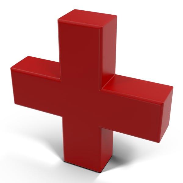 Красный классический знак плюс