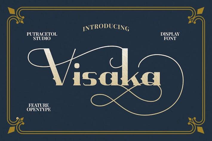 Visaka - Vintage Display Font
