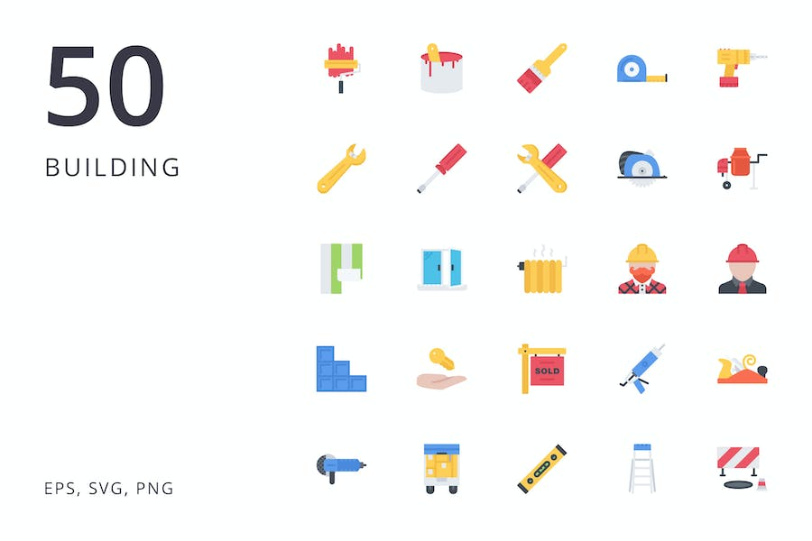 the building icons 50