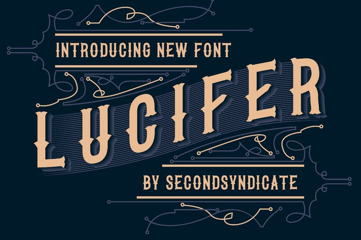 Thumbnail for LUCIFER - Black letter font