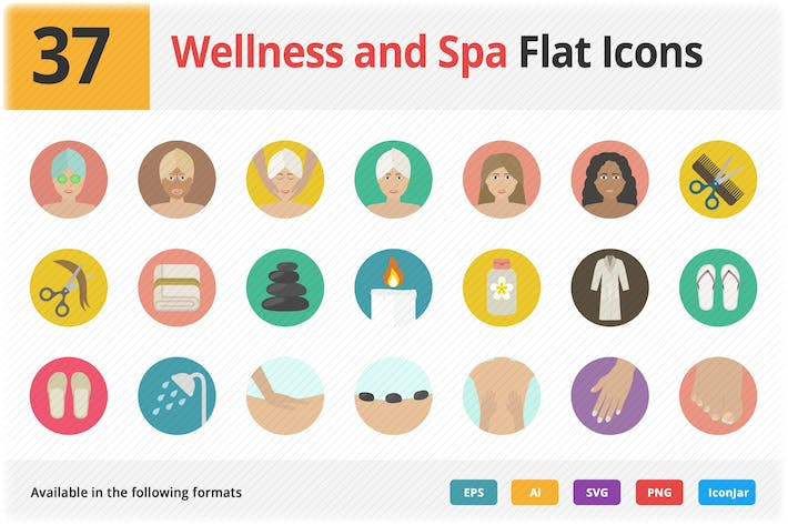 Thumbnail for Wellness and Spa Flat Icons Vol 1