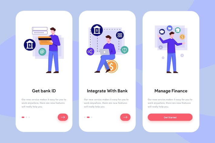 Thumbnail for Banking App Onboarding Illustration