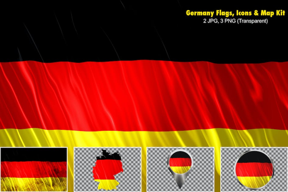 Download Germany Flags, Icons & Map Kit by StrokeVorkz