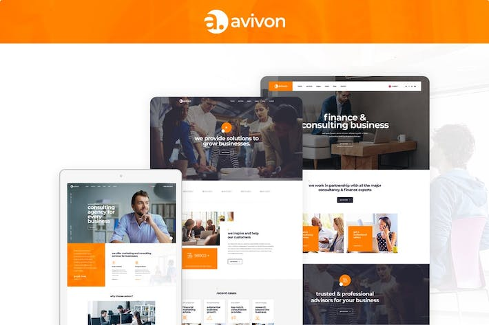Cover Image For Avivon - Pure Business Consulting & Finance HTML5