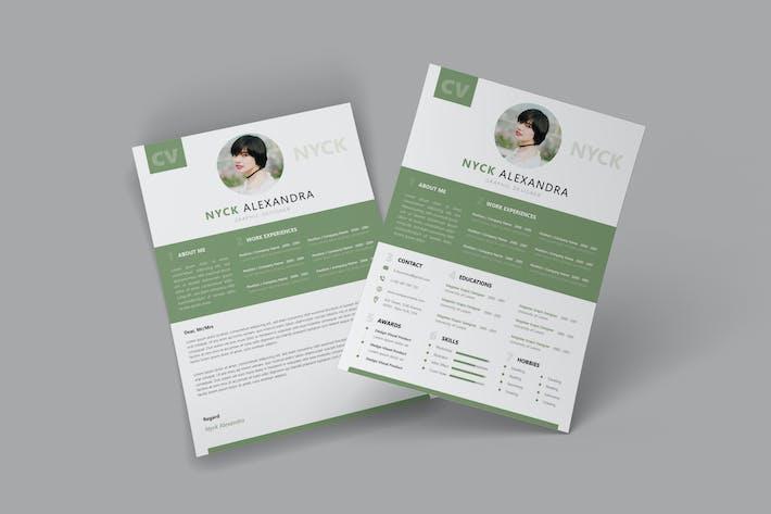 Thumbnail for Green CV Resume