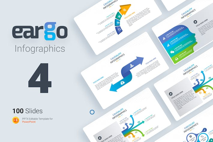 Thumbnail for Eargo 4 Infographic powerpoint template