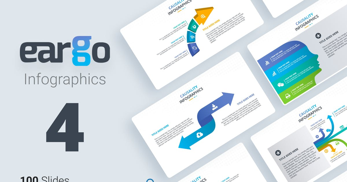Download Eargo 4 Infographic powerpoint template by Premast