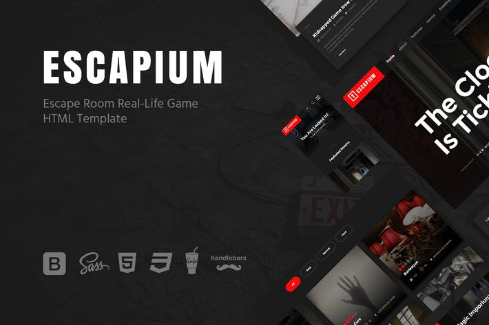 Thumbnail for Escapium - Escape Room Game HTML Template