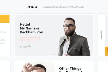 MUU - Einzigartige und kreative vCard & Resume Vorlage