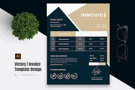 Victory Invoice Template Design