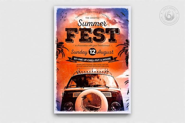 Thumbnail for Summer Fest Flyer Template V2