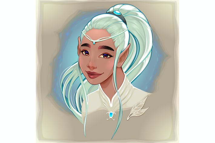 Thumbnail for Portrait of a Smiling Elf