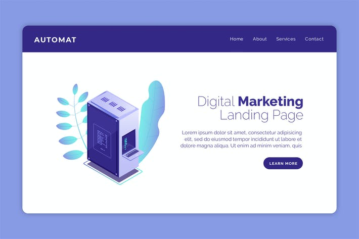 Thumbnail for Automat - Hero Banner Landing Page