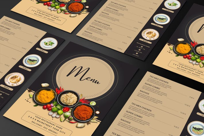 Thumbnail for Menü Restaurant Essen zweiseitige Menüliste