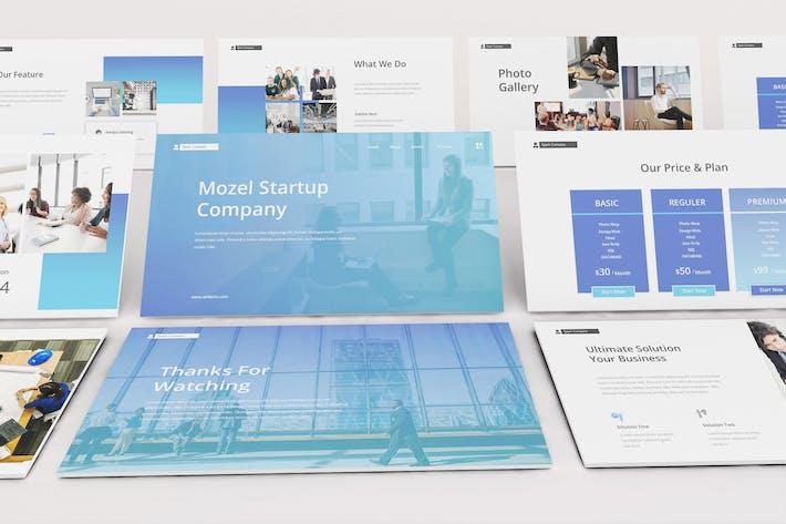 Thumbnail for Startup Landing Page Google Slides Template