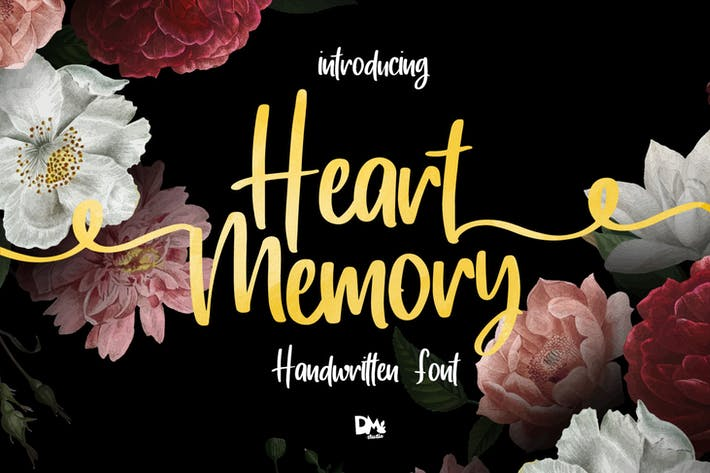 Thumbnail for Memoria del corazón - Fuente manuscrita