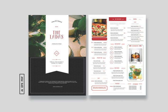 Cover Image For Simple VIntage Menu