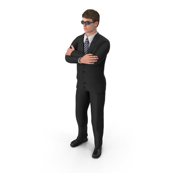 Businessman John Wearing Sun Glasses