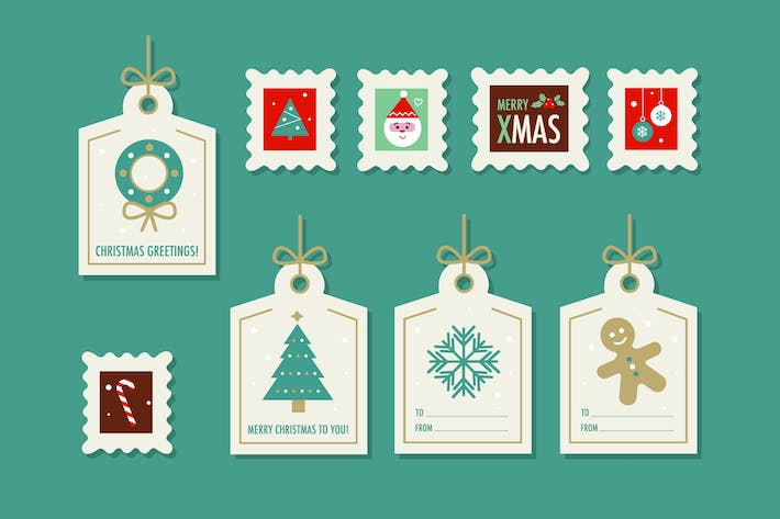 Thumbnail for Christmas Stamps & Tags