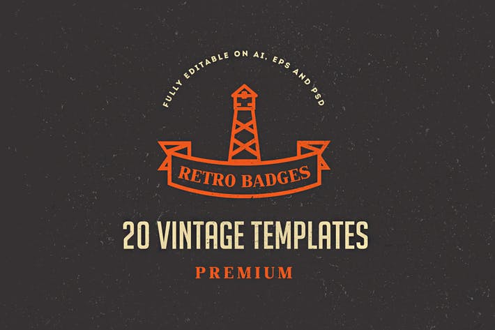 Thumbnail for 20 Vintage Logos & Badges