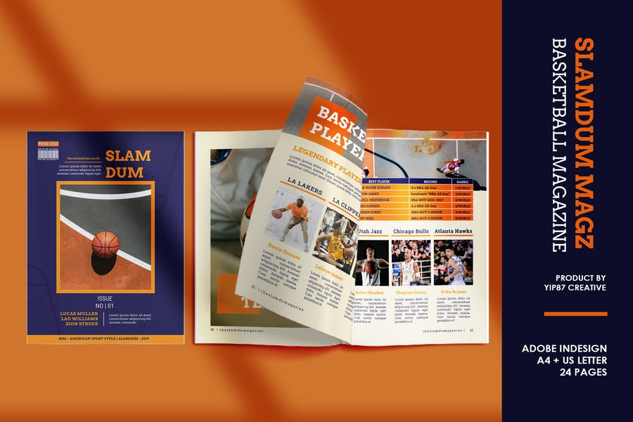 Slamdum -  Sport Magazine Template