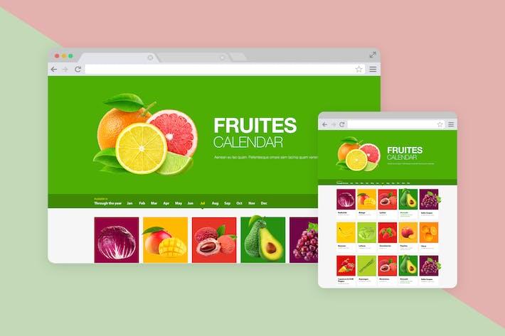 Thumbnail for Fruits Calendar PSD