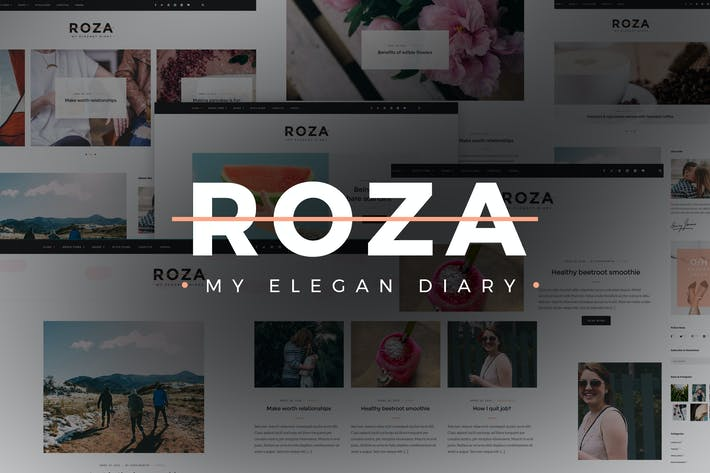 Thumbnail for Roza - Clean Blog Modèle HTML