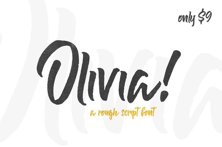 Thumbnail for Olivia Rough Font