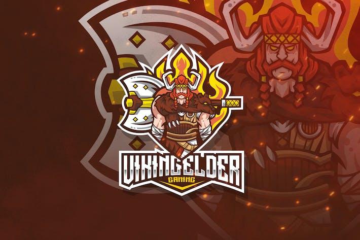 Thumbnail for Viking Elder Esport Logo Template