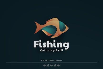 Fish Gradient Colorful Logo