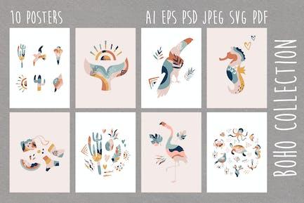 Summer Boho Cliparts